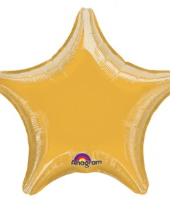 Personalised photo printed Gold Foil Star Balloon