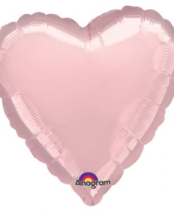 Personalised photo printed Light Pink Foil Heart Balloon