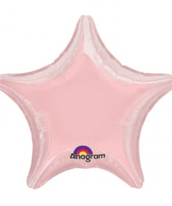 Personalised photo printed Light Pink  Foil Star Balloon