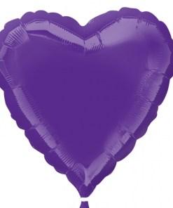 Personalised photo printed Purple Foil Heart Balloon
