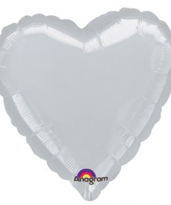 Personalised photo printed Silver Foil Heart Balloon