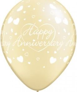 """10  Anniversary Hearts Helium Filled 11""""latex Party Party Balloons"""
