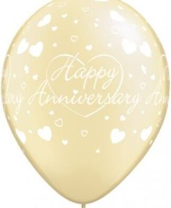 "10  Anniversary Hearts Helium Filled 11""latex Party Party Balloons"