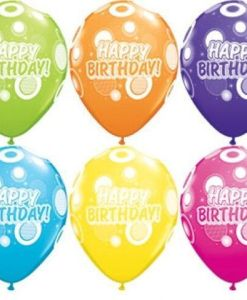 "10 Birthday Dots & Glitz Fantasy Helium Filled 11""latex Party Party Balloons"