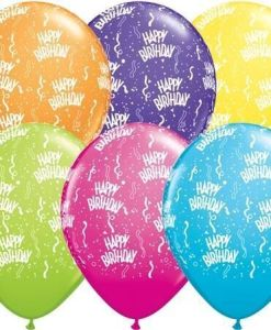 "10 Birthday Round Tropical Helium Filled 11""latex Party Party Balloons"