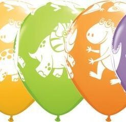 "10 Dinosaur Helium Filled 11""latex Party Party Balloons"