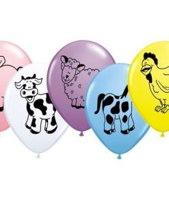 """10 Farm Animals Helium Filled 11""""latex Party Party Balloons"""