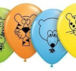 """10 Jungle Animals Helium Filled 11""""latex Party Party Balloons"""