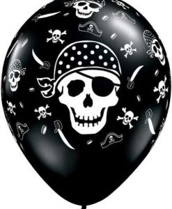 "10 Pirate Skull & Crossbones Helium Filled 11""latex Party Party Balloons"
