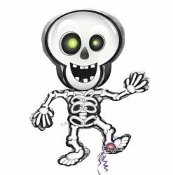 dancing skeleton shape  Helium Filled Foil Balloon