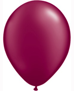 "10 Treated Pearlised Burgundy 11"" Helium Filled Latex Balloons"