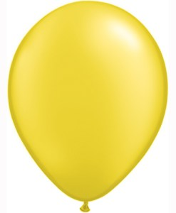 "10 Treated Pearlised Radiant Citrine Yellow11"" Helium Filled Latex Balloons"