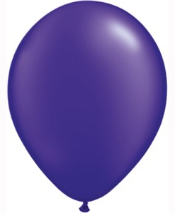 "10 Treated Pearlised Purple 11"" Helium Filled latex Balloons"