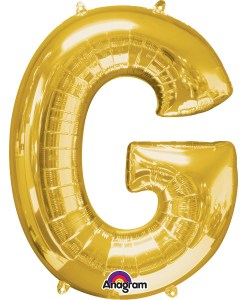 Gold Helium Inflated Letter Balloons