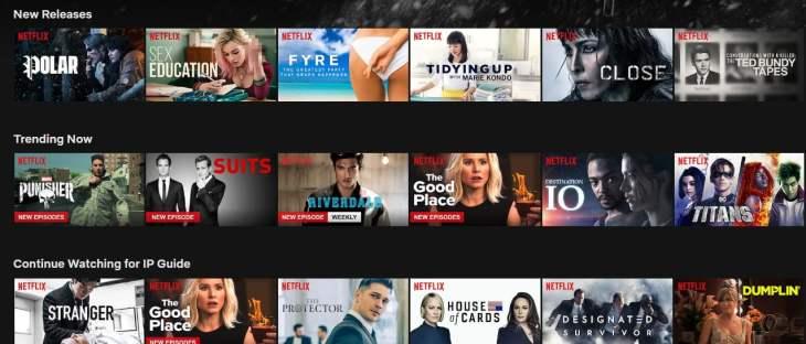 Netflix katalogen i England ser litt annerledes ut...