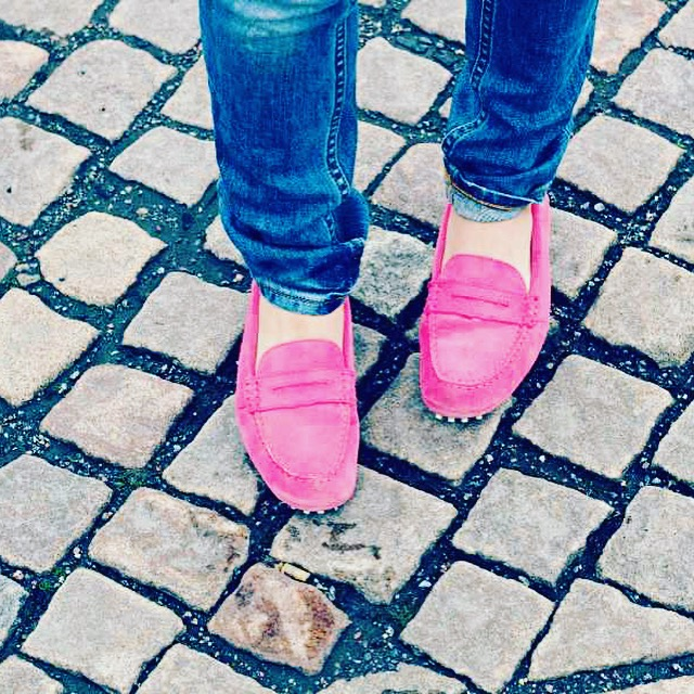 Womens London Loafers Pink Penny Loafers