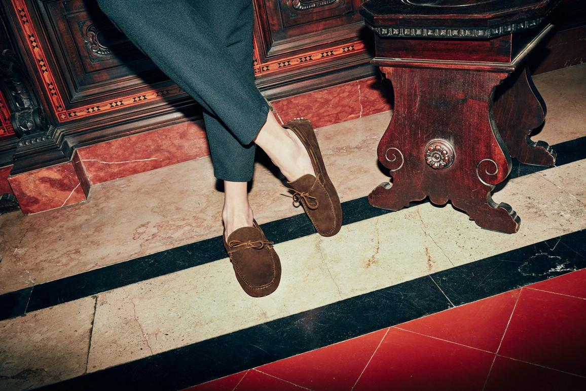 Men's Brown 'Chelsea' Driving Loafers