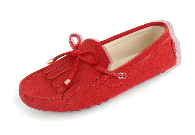 london loafers womens Brentwood spitfire red suede pringed driving loafers 3