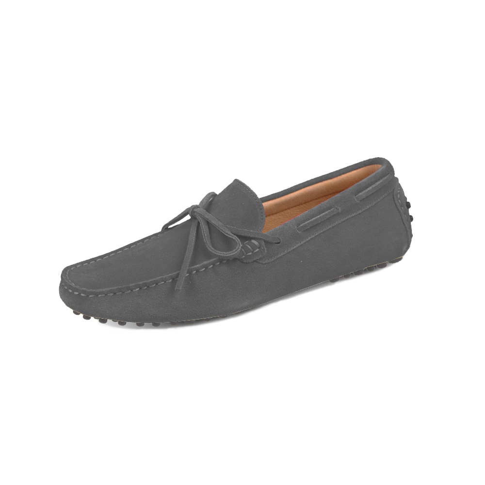 mens grey suede lace up driving shoes - chelsea loafer by london loafers