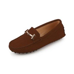womens brown suede horsbit driving shoes - windsor shoe by london loafers