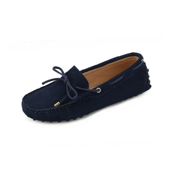 womens navy suede lace up driving shoes – kensington shoe by london loafers