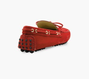 Mens Red Classic Driving Shoes – Mens Driving Loafers By London Loafers – Suede Loafers For Men4