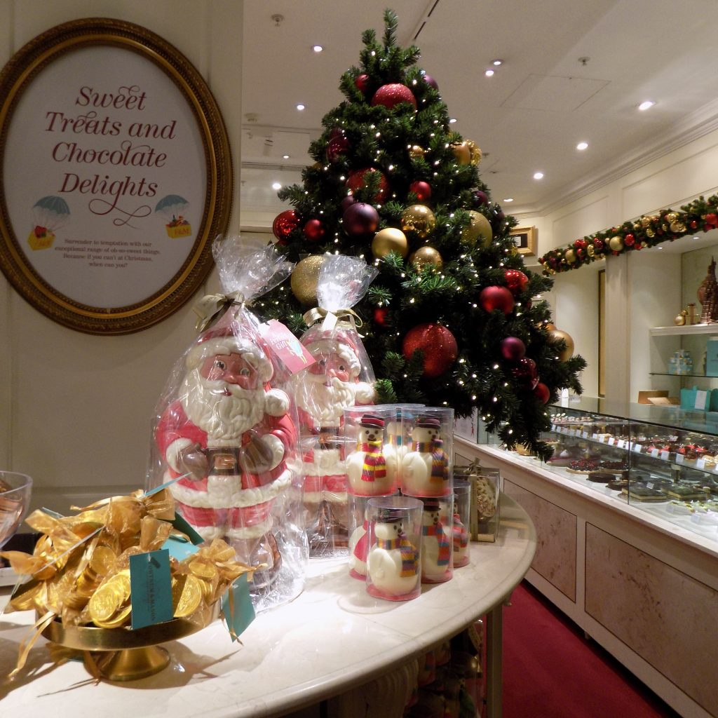 Fortnum's at Christmas is magical. The Father Christmas chocolates.