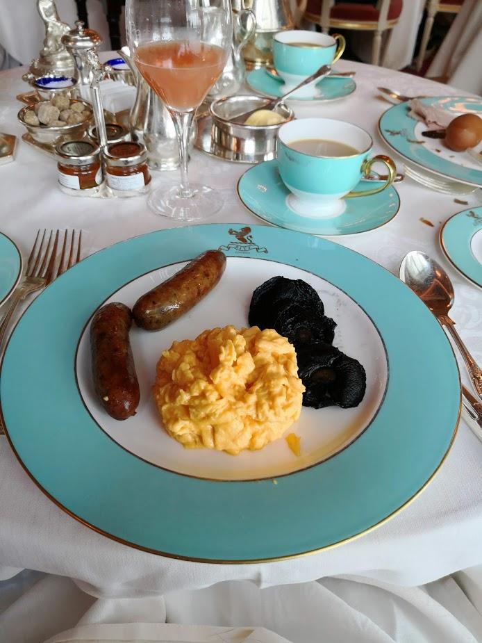 Ritz Hotel breakfast