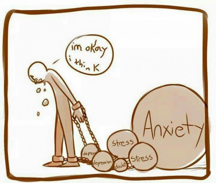 depression and anxiety is a burden we carry around with us