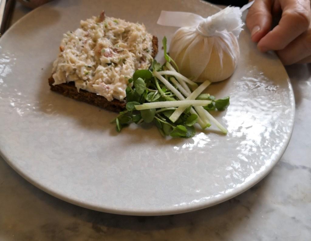 Dorset Crab on toast