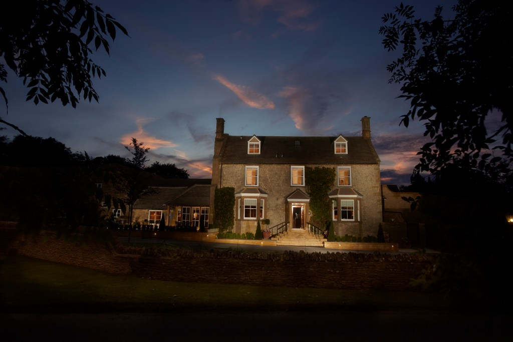 Dormy House Hotel at night