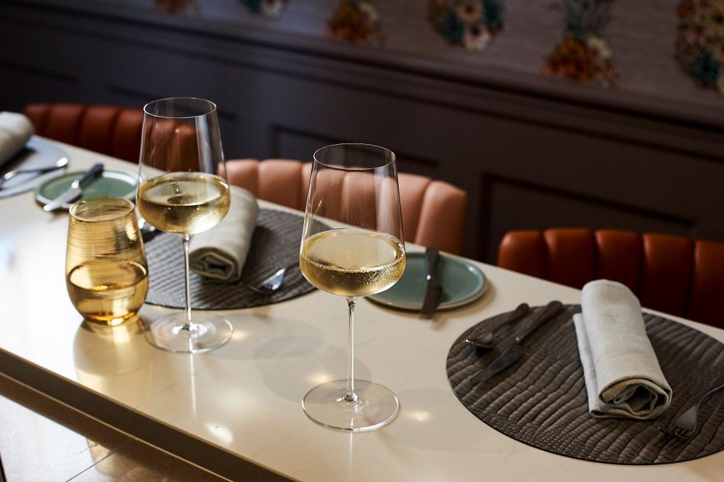 Wines at Mo restaurant