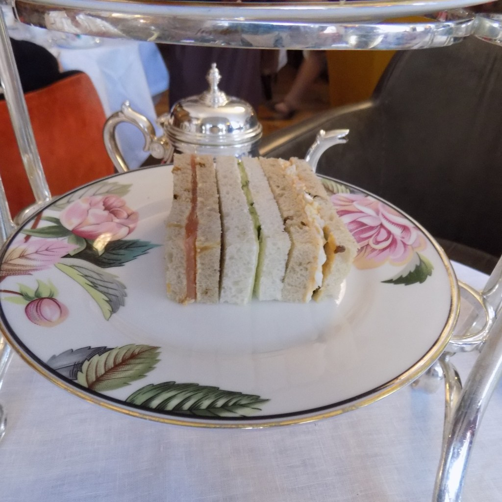 The finger sandwiches at the English Tea Room