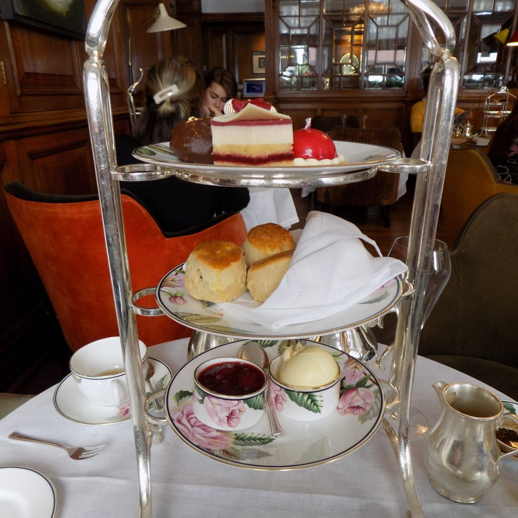 The cakes in the English Tea Room