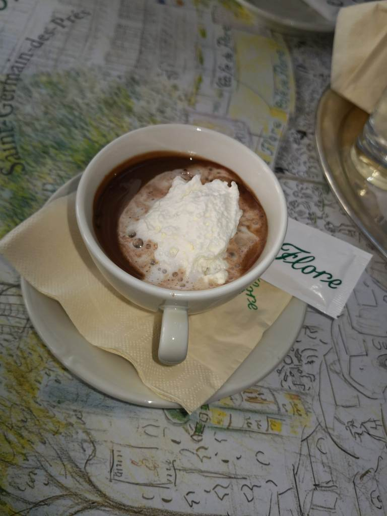 Cafe de Flore hot chocolate