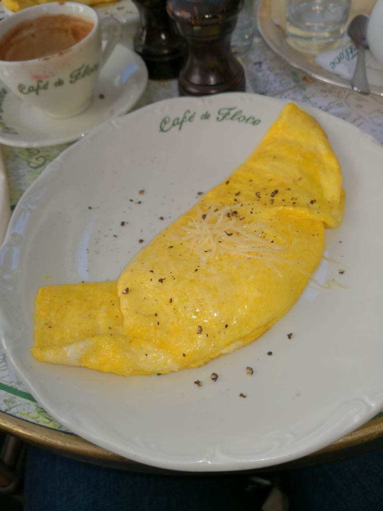 Omelette at Cafe de Flore