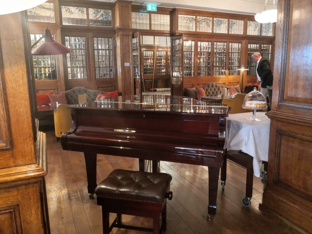 The Grand Piano in the English Tea Room