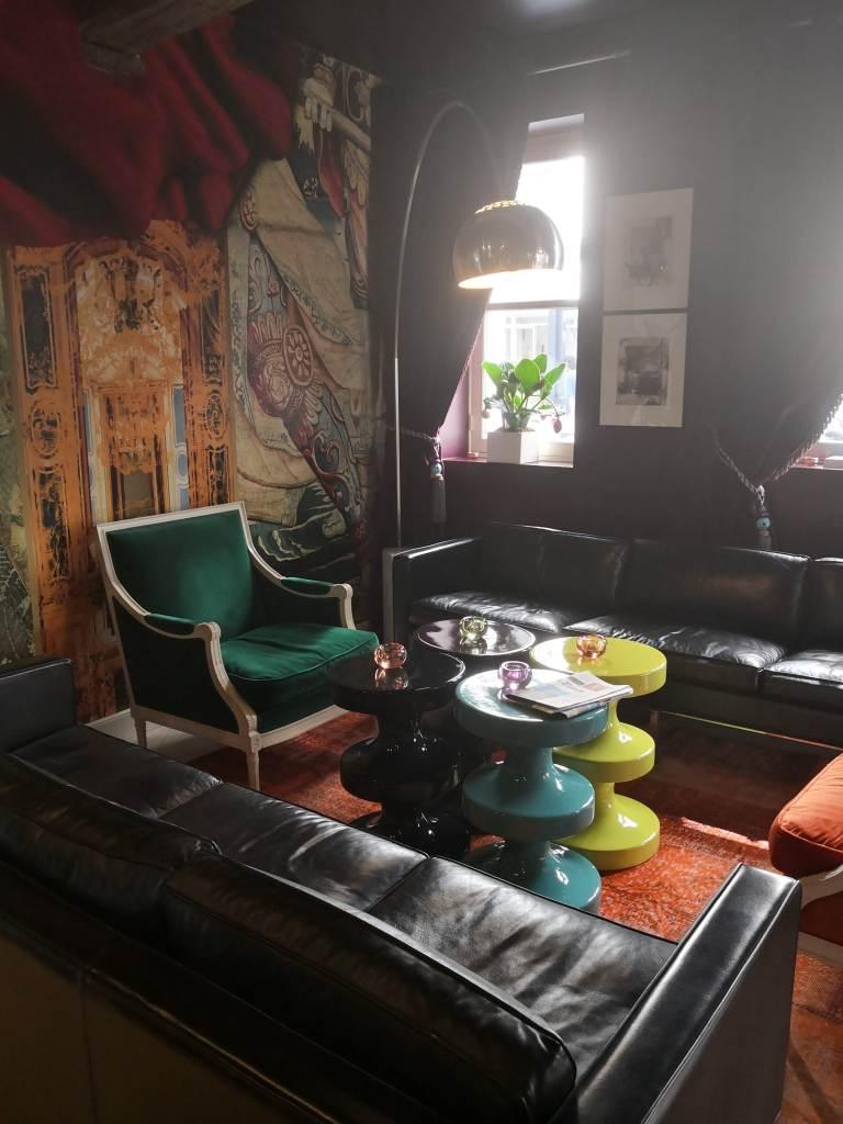 Hotel du Petit Moulin's lobby, Paris stories, August 2019