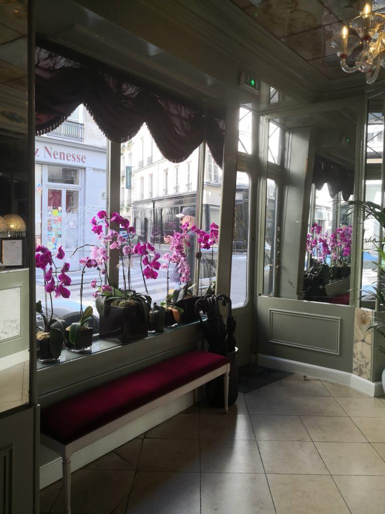 Hotel du Petit Moulin's pretty lobby