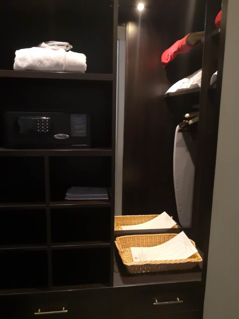 walk in wardrobe and safe