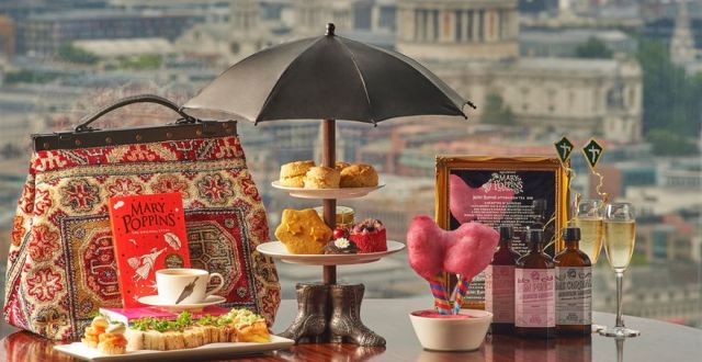 'Mary Poppins' Afternoon Tea in London at Aqua Shard