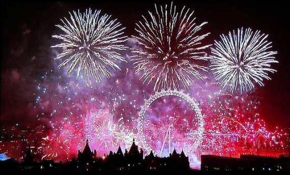 Image result for fireworks in london images