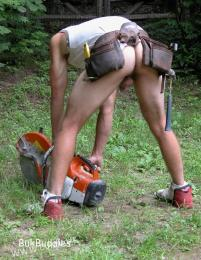 builders lubed buttocks