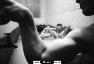 Vintage Rugby Homoerotica naked men after lockerroom