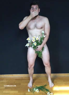 cock and flowers