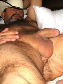 touch belly cowboy daddy