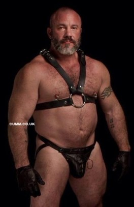 daddy jock dominant in leather