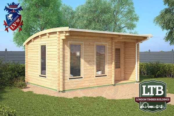London Timber Buildings Log Cabin Wembley Range 5m x 3.5m WEM029 001
