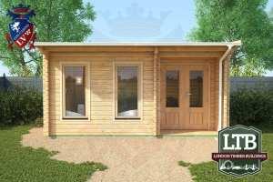 London Timber Buildings Log Cabin Wembley Range 5m x 3.5m WEM029 003