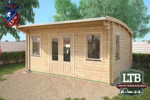 London Timber Buildings Log Cabin Wembley Range 5m x 4m WEM032 002